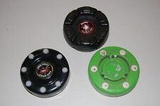 3 Used Roller Inline Hockey Pucks