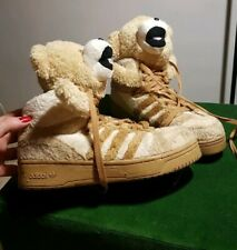 Adidas x Jeremy Scott JS Teddy Bear Fur 3D Trainers UK 5/38 Brown OBYO Sneakers
