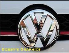 VW GOLF Mk 7 BADGE INLAY SET Vinyl Both Front & Rear in GLOSS WHITE