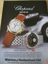 CHOPARD GENEVE MILLE MIGLIA SPONSOR 1989 A4 ADVERT POSTER READY TO FRAME L