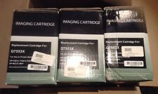 THREE New Replacement Laser Cartridges for Q7553X, HP Compatible