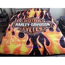 "Harley Davidson ""Fresh"" Royal Plush Throw Blanket, Measure 60 by 80 inches"