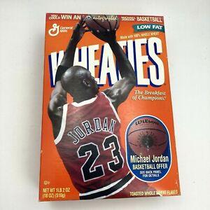 RARE Vintage 90s Michael Jordan Air Jordan Wheaties Box Unopened and Sealed