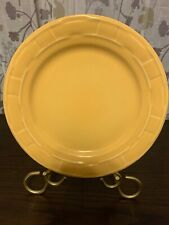 "Longaberger Woven Traditions Pottery Butternut Yellow 10"" Dinner Plate Usa"
