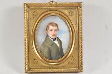 k21o13- Biedermeier Miniatur Porträt um 1820-30