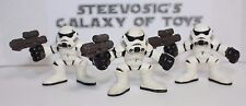 STAR WARS Galactic Heroes Imperial Stormtrooper lot of 3 Army Builder Black Mask