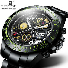 Tevise Watch Men Business Waterproof Mechanical Automatic Steel Strap  j
