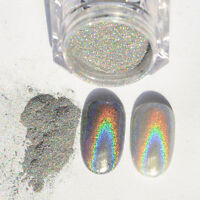 2g Holographic Nagel Pigment Puder Pulver Mirror Powder Nail art Chrome + Pen //