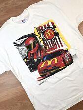 VINTAGE 90s 1995 BILL ELLIOTT NASCAR SHIRT XL ALL OVER PRINT MC DONALDS RACING
