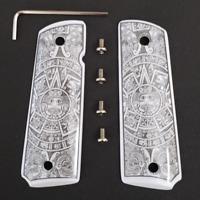 1911 Full Size Grips Aztec Calendar ivory grips 1911 Full Size grips W Ambi Cut