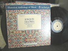Josquin Des Pres Mass Motets Solo Renaissance Vocals Vanguard hm3sd noble lp !!