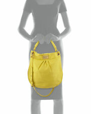 Marc By Marc Jacobs Classic Q Hobo Hillier Pebbled  Leather  Bag  Yellow $428