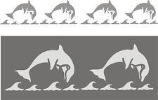 Schablone, Wandschablone, Wandschablonen, Malerschablone, Kindermotiv - Delphine
