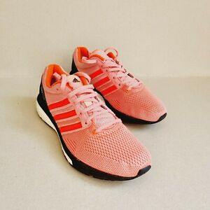 ADIDAS BOSTON BOOST WOMEN'S RUNNING YOGA TRAINERS PINK/BLACK SIZE UK6.5 EU40(b44