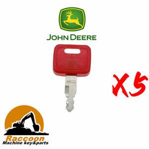 5pcs Fits John Deere Case New Holland NH H800 Hitachi Equipment Ignition Keys