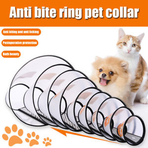 1PC Pet Cat Dog Anti Bite Collar Adjustable Comfy Puppy Kitten Cone Anti-Bite UK