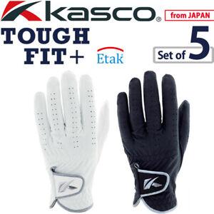 2021 Kasco Golf Japan TOUGH FIT+(Plus) Men's Glove SF-2116 Whtie Black Pack of 5