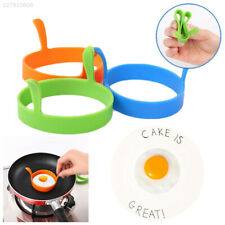 C112 Silicone Fried Egg Rings Round Mould Shaper Frying Pan Oven Kitchen New