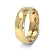 9ct Oro Amarillo Anillo De Boda - 5.5mm - Tamaño N1/2 (00617)