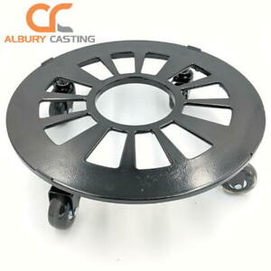 Aluminium 34cm Pot Trolley With Blade Wheels | No Floor Marking or Scratching