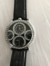 ICE STAR Watch No 4626 Rhinestone Big Face Bling Hip Hop Leather Band