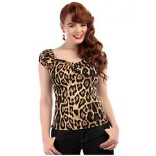 Leopard Top size 6 XS Retro 50s Pin Up rockabilly vintage look Dolores Collectif
