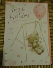 The works,  Quality birthday pink balloon Card  with envelope
