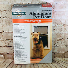 Petsafe Freedom Medium Aluminum Pet Door Dog Entrance Weather Seal 40lbs dog