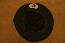Original Cold War Era East German Army Wool Beret w/Sewn Insignia, Euro Size 53