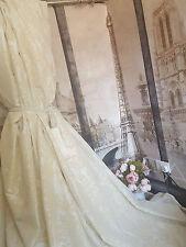 "NUOVO! SUBLIME enormi classica francese DAMASCATO PANNA SETA 120 ""D52"" W Foderato Tende Bay"