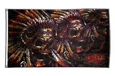 Skull American Indian FLAG  Banner 90x150cm - 5ftx3ft