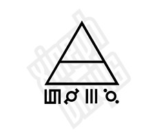 30 seconds to mars triad 10cm triangle vinyl sticker decal skin car window phone