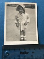 Photograph. Vintage. Social History. Young Girl In Bonnet.