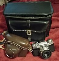 Vintage Zeiss Ikon Contaflex  Camera w/Tessar 50mm f2.8, cases and more