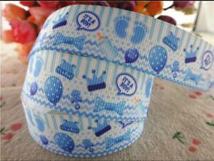"ITS A BOY Grosgrain RIBBON 1m x 22mm width (7/8"") new baby shower cake birth"