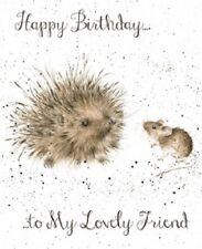 Wrendale Designs Happy Birthday Greeting Card NEW Hedgehog to my lovely friend