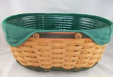 Longaberger 2004 Green Christmas Hostess Greetings Basket Comb