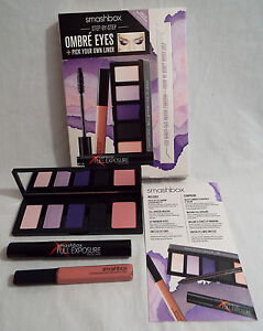 Smashbox Step By Step Ombre' Eyes 3 Piece Set 4 Shadows, 1 Blush, Gloss, Mascara