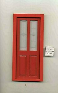 Door - Exterior Transom RED  - dollhouse miniature 1/12 scale CLA76036