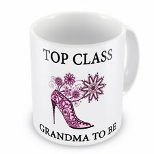 Top Class GRANDMA TO BE Novelty Gift Mug - Brand New
