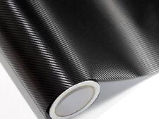 3D Film de Carbone Noir 300 CM X 152 CM sans Bulles Conduits D'Air 0,16mm Caq