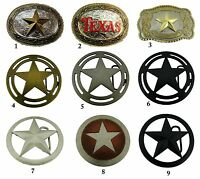 Texas Usa Flag Belt Buckle Bull Lone Sheriff Star Cowboy Western Map Silver Mens