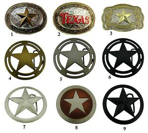 Lone Star Belt Buckle Sheriff Badge Men Women Rodeo Western New Big Texas Style