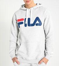Felpa logo Fila con cappuccio e tasche colore bianco nero grigio modello unisex