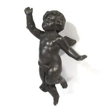 Antique French Bronze Patinated Spelter Angel, Cupid, Eros