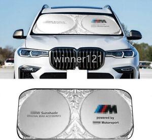 Car Sun Shade Windshield Cover Foldable Block UV Rays Protect Sun Visor for BMW
