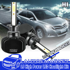 2PCS H1 LED Headlight 400W 40000LM Kit 6000K White Car Bulbs Lamps Light