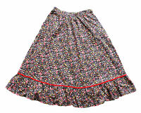 Vintage 80's Floral Print Midi Skirt Retro Boho 6