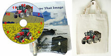 DIY CD Clock KIT. Tractors, in small canvas gift bag with Tractor Motif