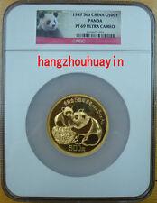 1987 China 5oz G500Y gold panda NGC PF69